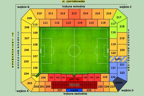 Podział na sektory nowego stadionu Legii